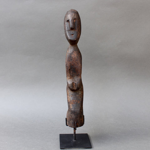 Wooden Carving / Sculpture of Kneeling Wooden Figure from Timor, Indonesia (circa 1960s - 1970s)