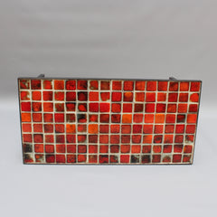 Ceramic Low Table with Red-Hued Tiles by Mado Jolain (circa 1950s)