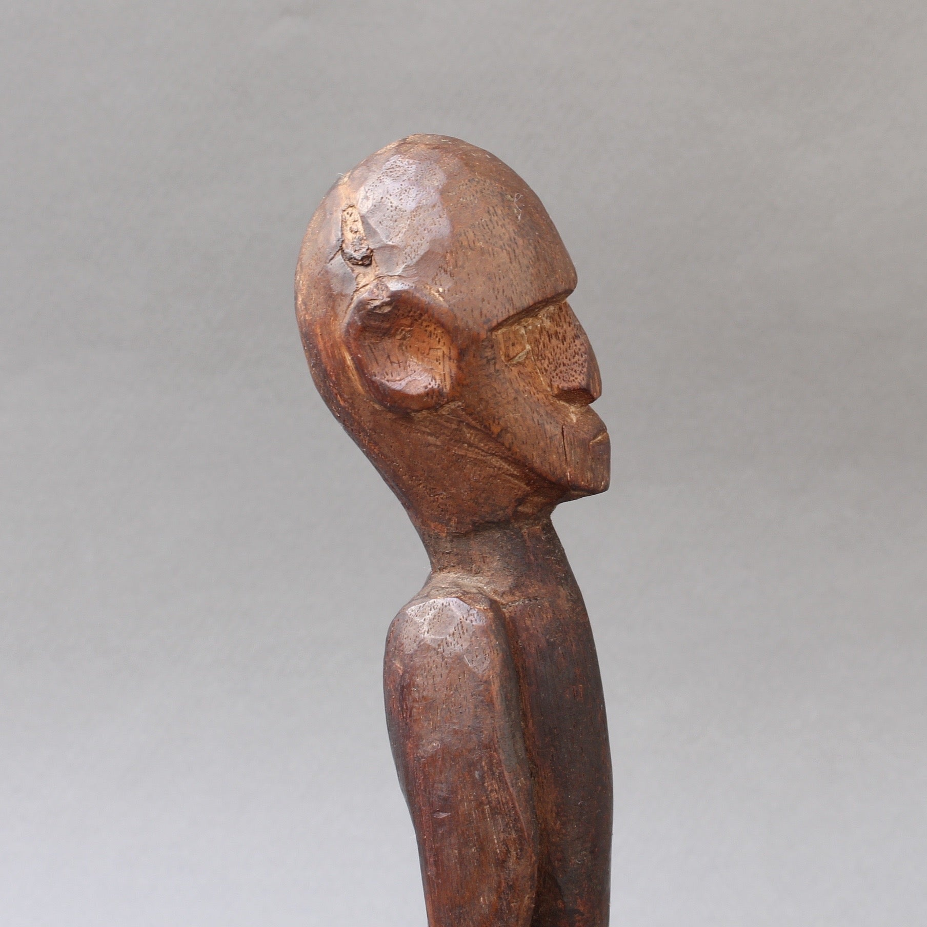 Wooden Sculpture / Carving of Sitting Figure from Sumba Island, Indonesia (circa 1960s - 1980s)