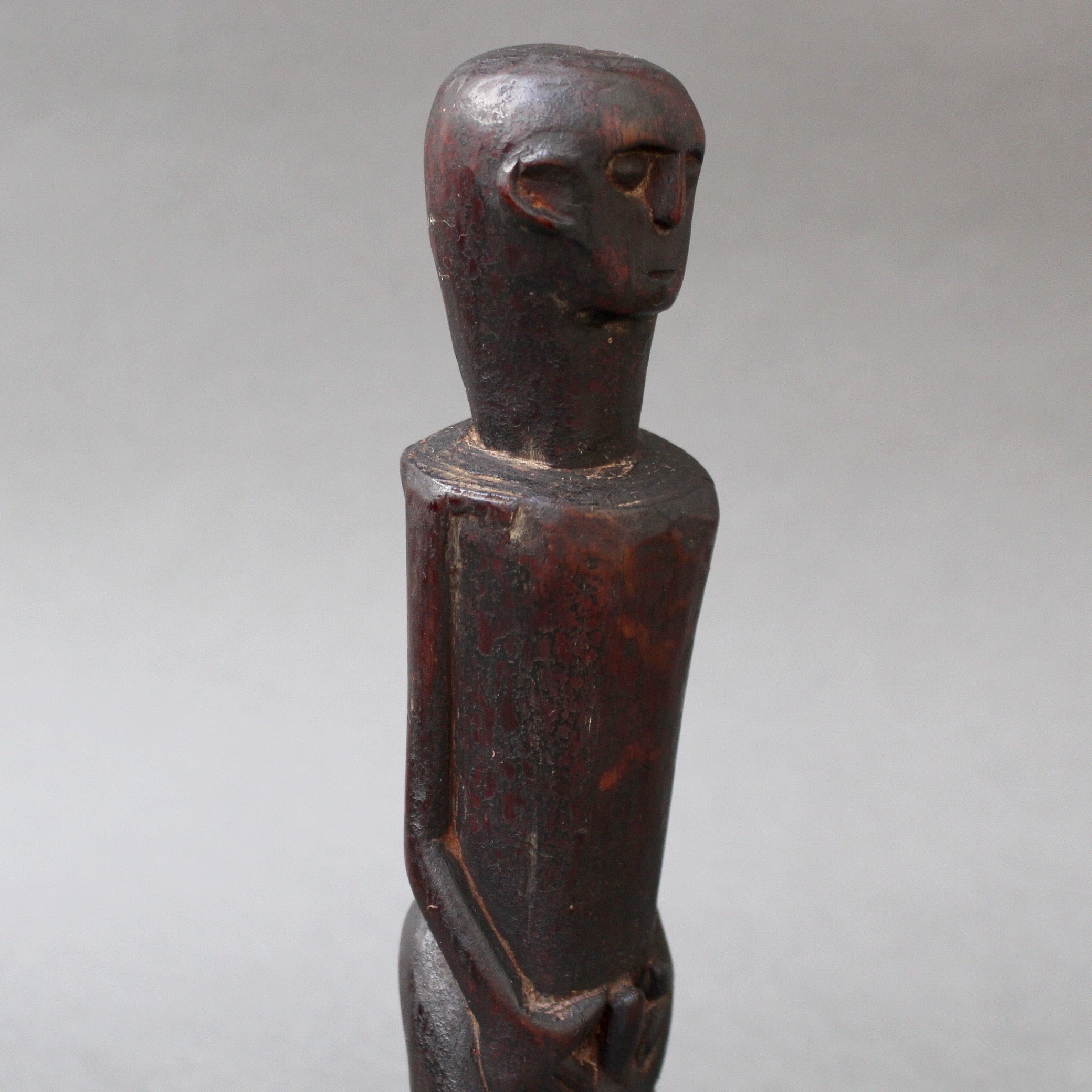 Wooden Sculpture / Carving of Fertility Figure from Sumba Island, Indonesia (circa 1960s - 1970s)