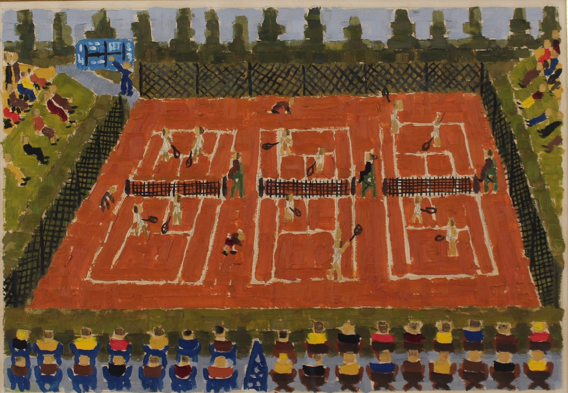'Monte Carlo Clay Court Tennis Tournament' by Claud Ambaud (c. 1960s)