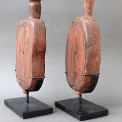 Pair of Hardwood Sumbanese Lutes with Anthropomorphic Figures (circa Early 20th Century)
