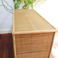 Italian Mid-Century Bamboo and Wicker Credenza from Dal Vera (circa 1960s)