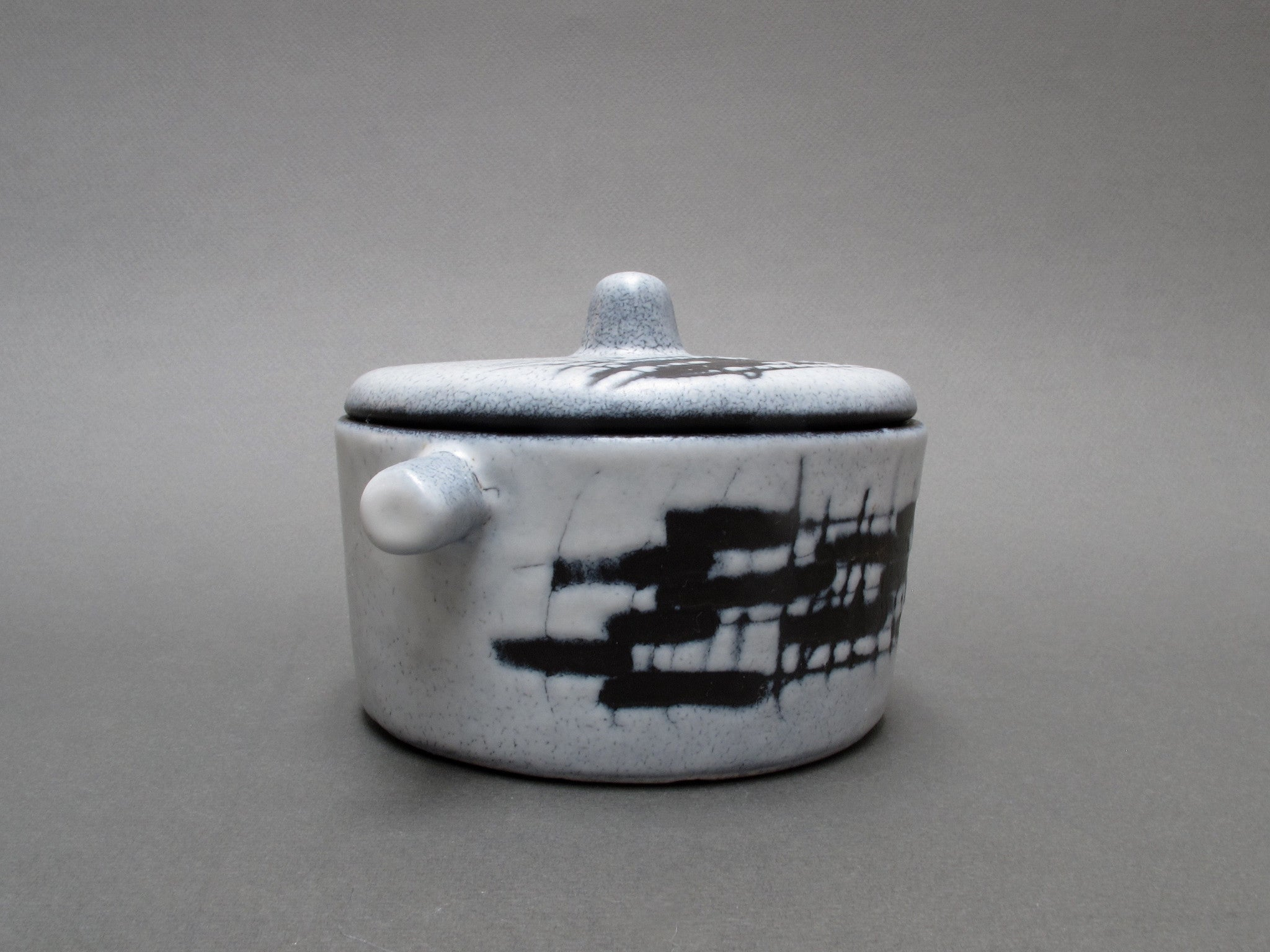 Ceramic Pot with Lid (Cocotte) by François Caleca (c. 1960s)