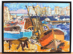'The Old Port Marseille' by Françoise Pirró (circa 1970s-80s)