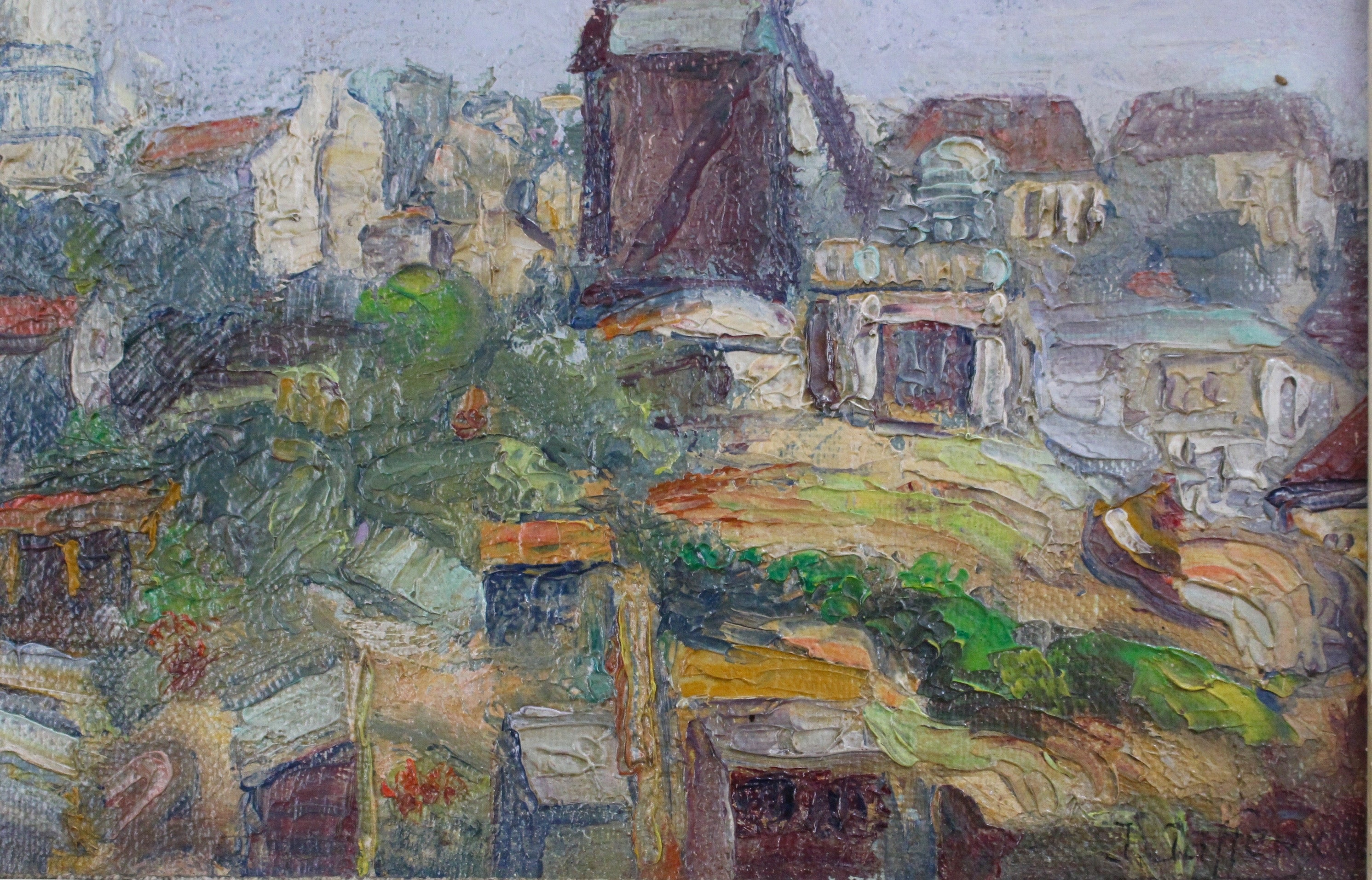 'View of Montmartre' by Jean Jaffeux (1955)