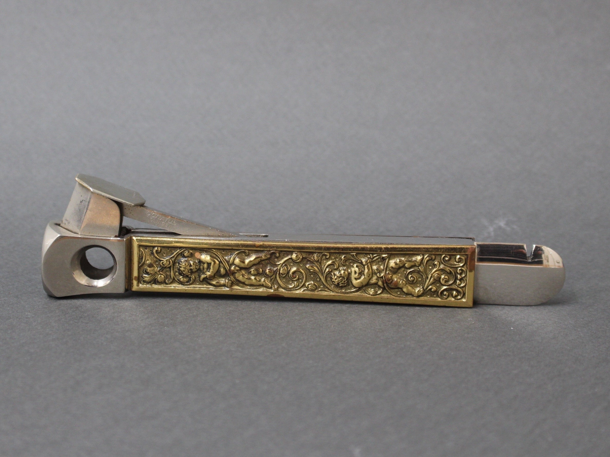 Stainless Steel German Vintage Cigar Cutter from Donatus Solingen (circa 1950s)