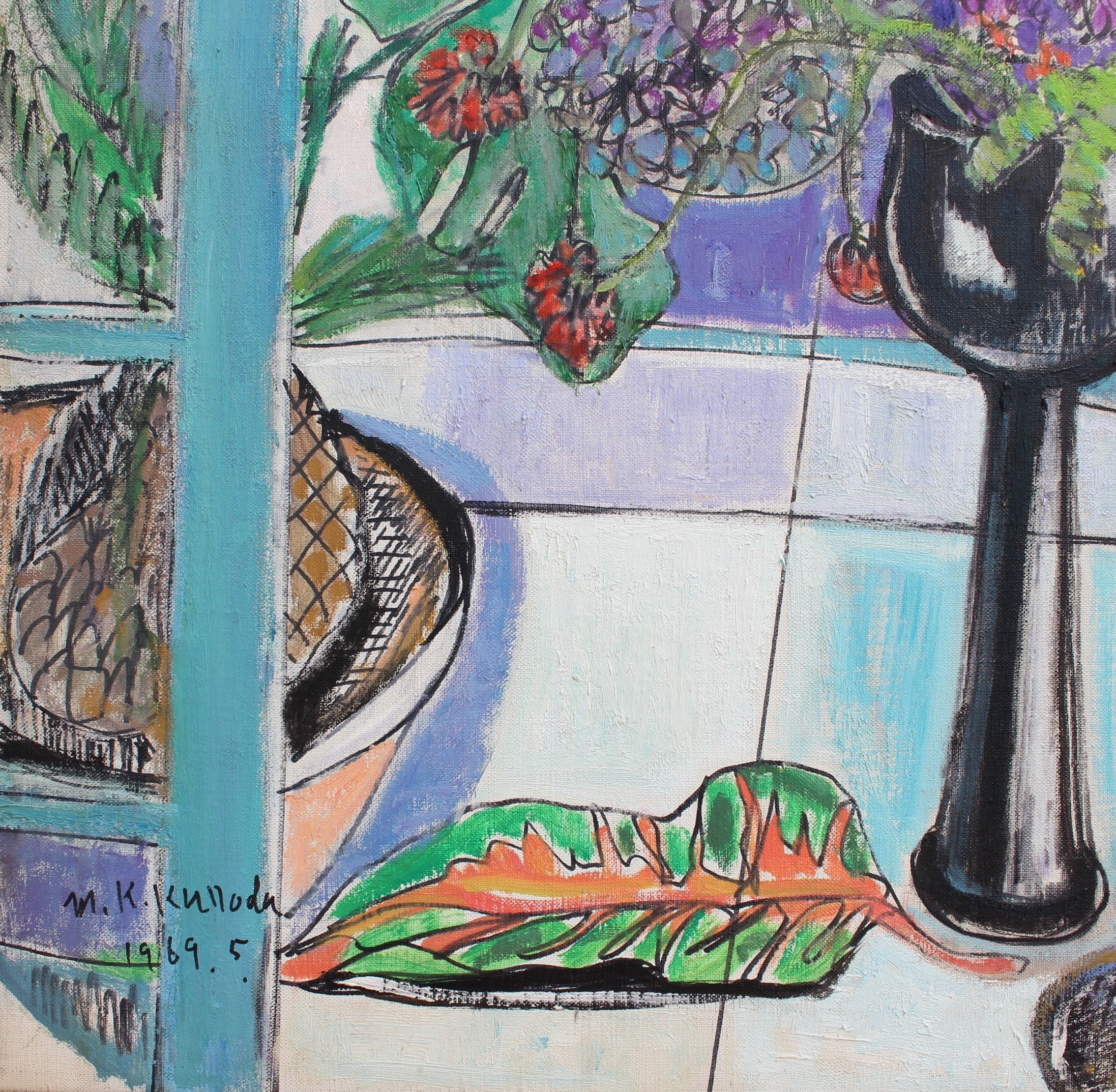 'Still Life with Bouquet and Carafe' by Kumiko Kuroda (1969)
