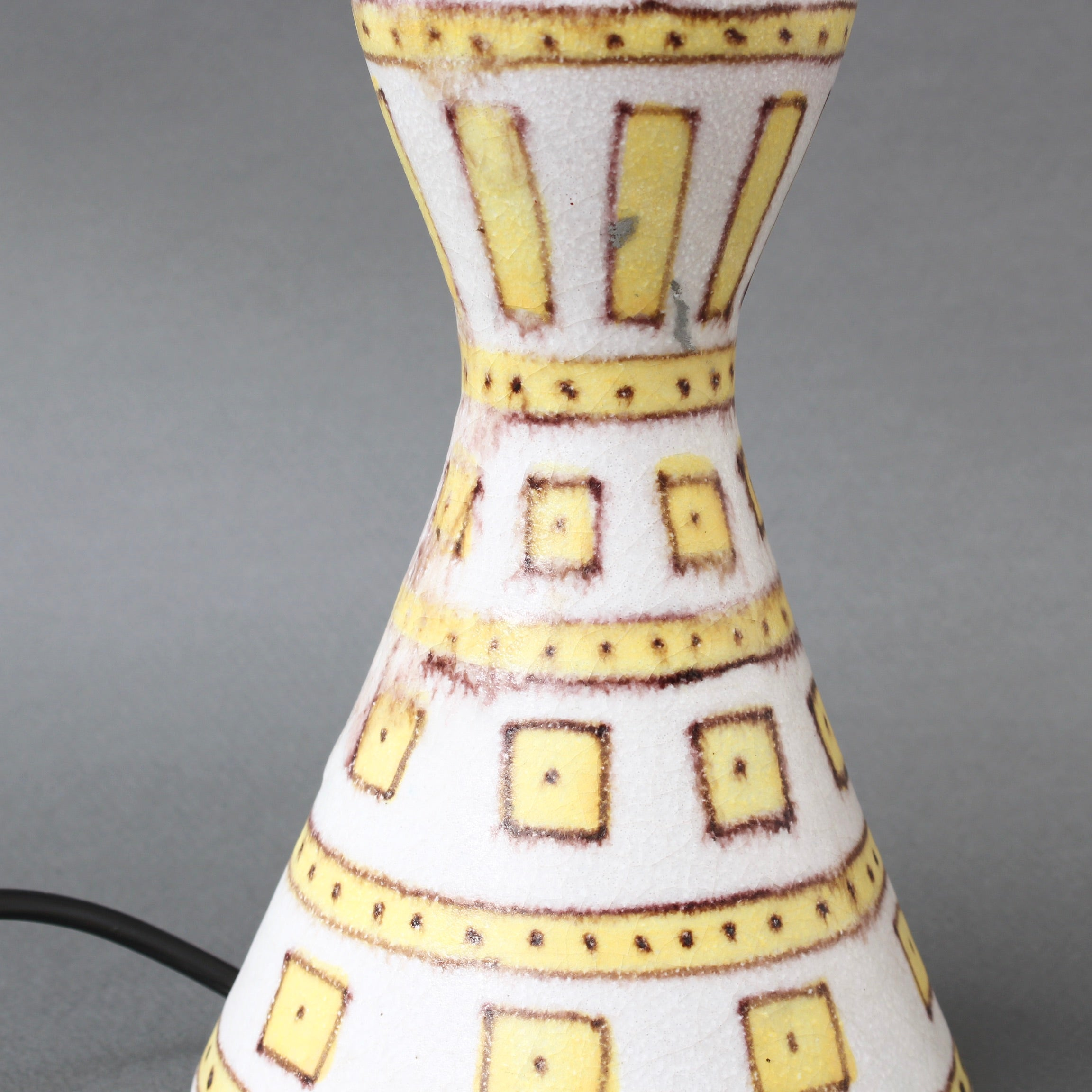 Decorative Italian Ceramic Table Lamp by Guido Gambone (circa 1950s)