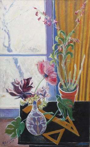 'Still Life with Flowers and Snow' by Yoritsuna Kuroda (1974)