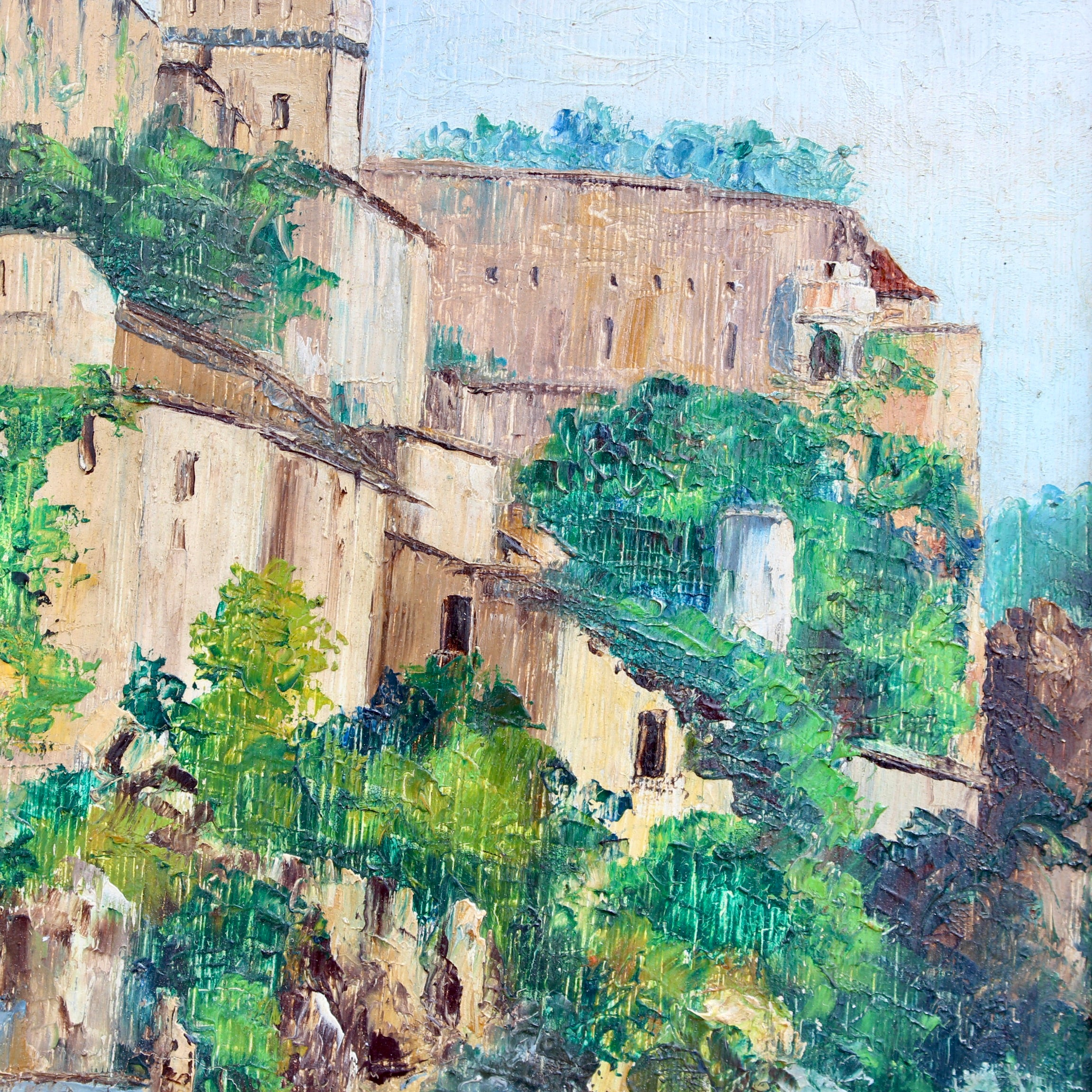 'The Chateau of Lourdes' by Maurice Martin (circa 1930s-50s)