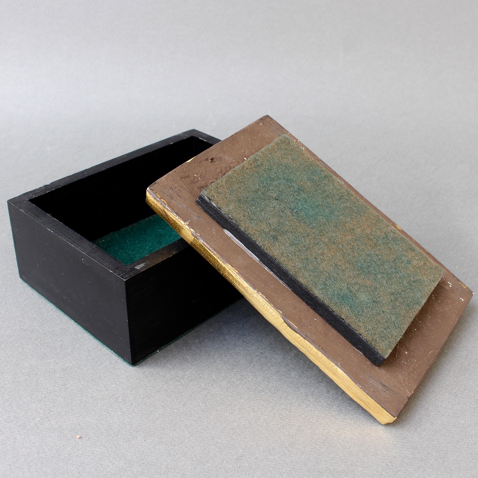 Jewellery Box with Decorative Ceramic Lid by Mithé Espelt (circa 1960s)
