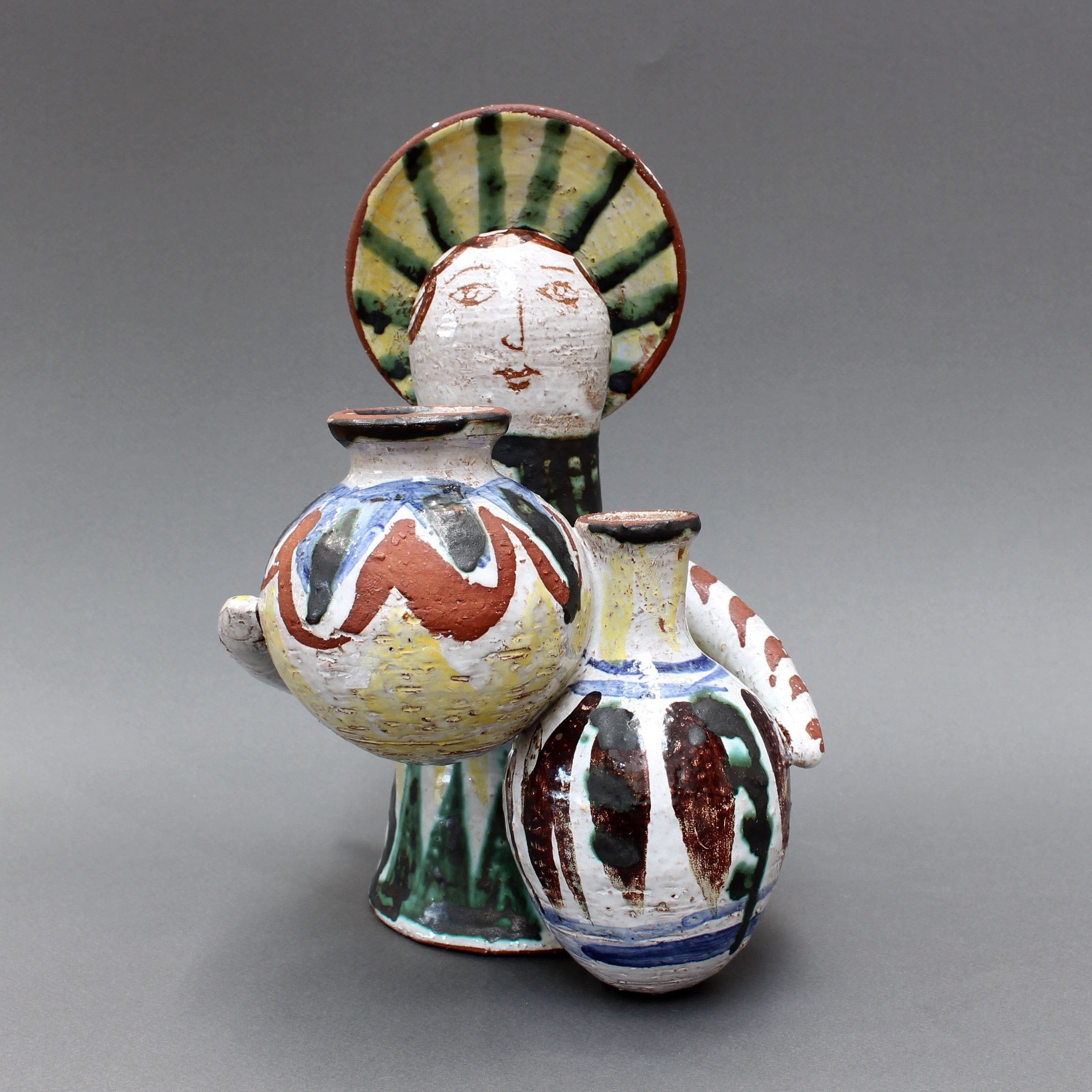 Mid-Century Ceramic Angel With Amphorae (c. 1950s) by Unknown