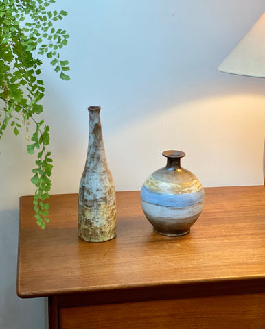 Mid-Century French Ceramic Bottle / Vase by Alexandre Kostanda (circa 1960s)