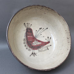 'Ceramic French Rooster Motif Bowl' by Gustave Reynaud - Le Mûrier (circa 1950s)