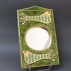Ceramic Decorative Wall Mirror by François Lembo (circa 1970s)