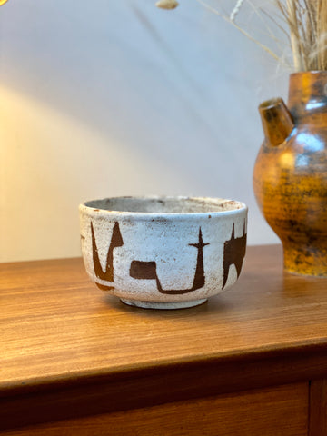 Mid-Century French Ceramic Bowl by Jean Rivier (circa 1960s)