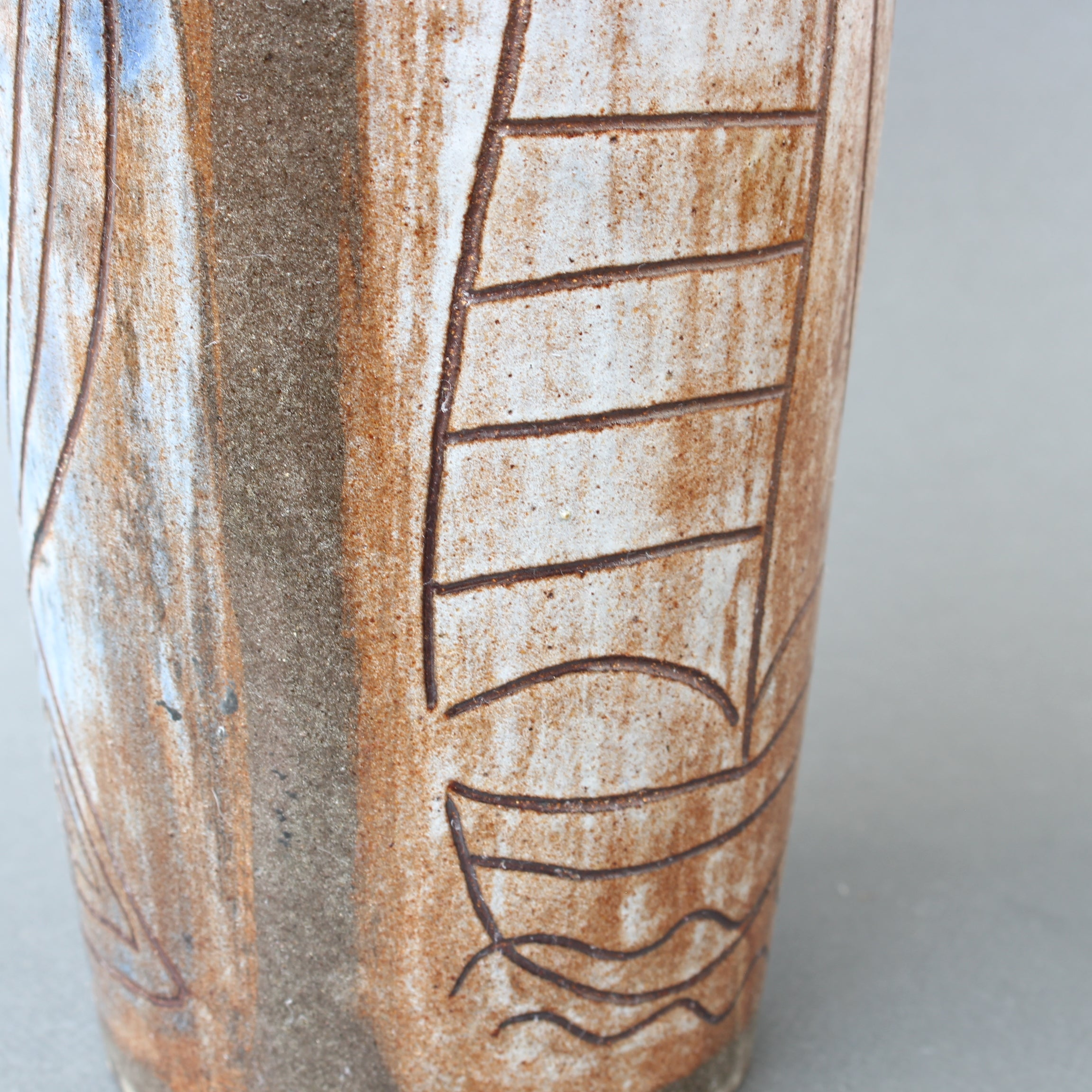 French Ceramic Decorative Vase by Alexandre Kostanda (circa 1960s)