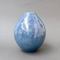 French Decorative Ceramic Vase (circa 1970s)