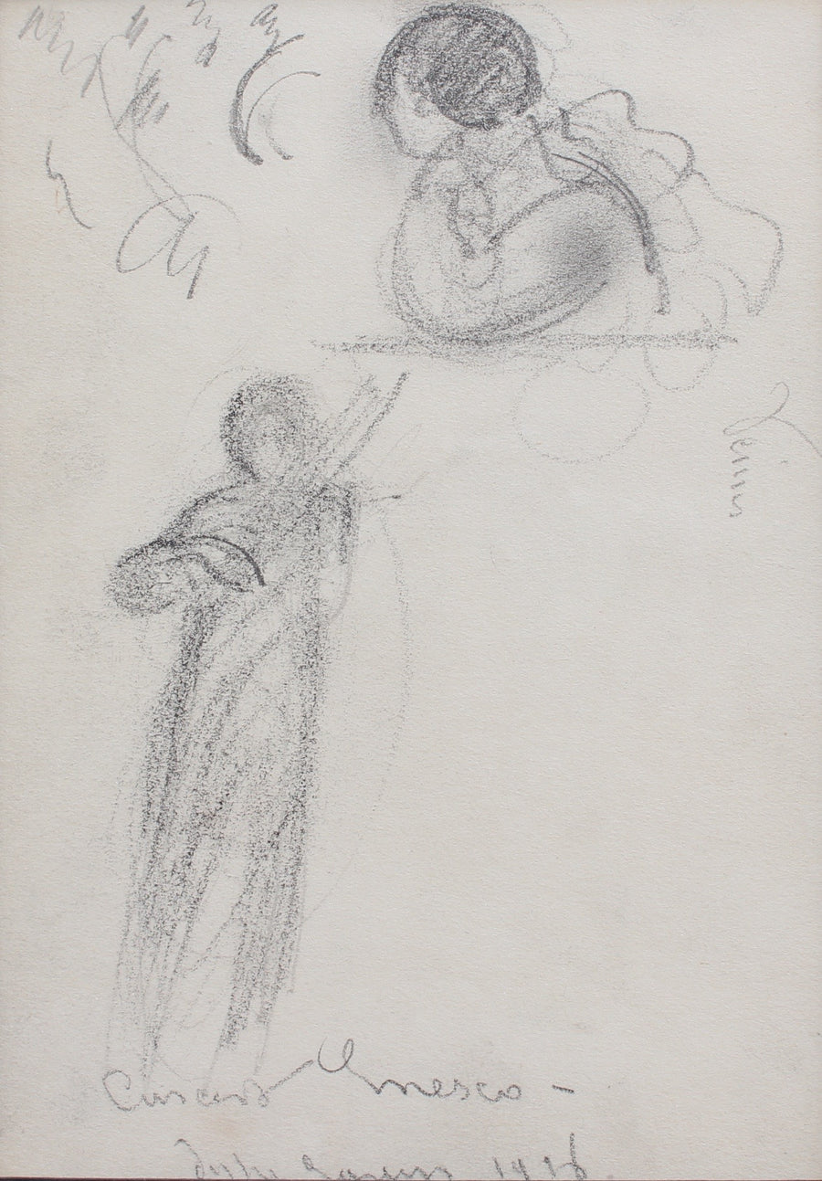 Set of Three Drawings by Guillaume Dulac (c. 1920s)
