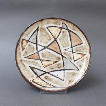 Mid-Century Decorative Ceramic Plate by Robert Perot of Vieux Moulin (circa 1950s)