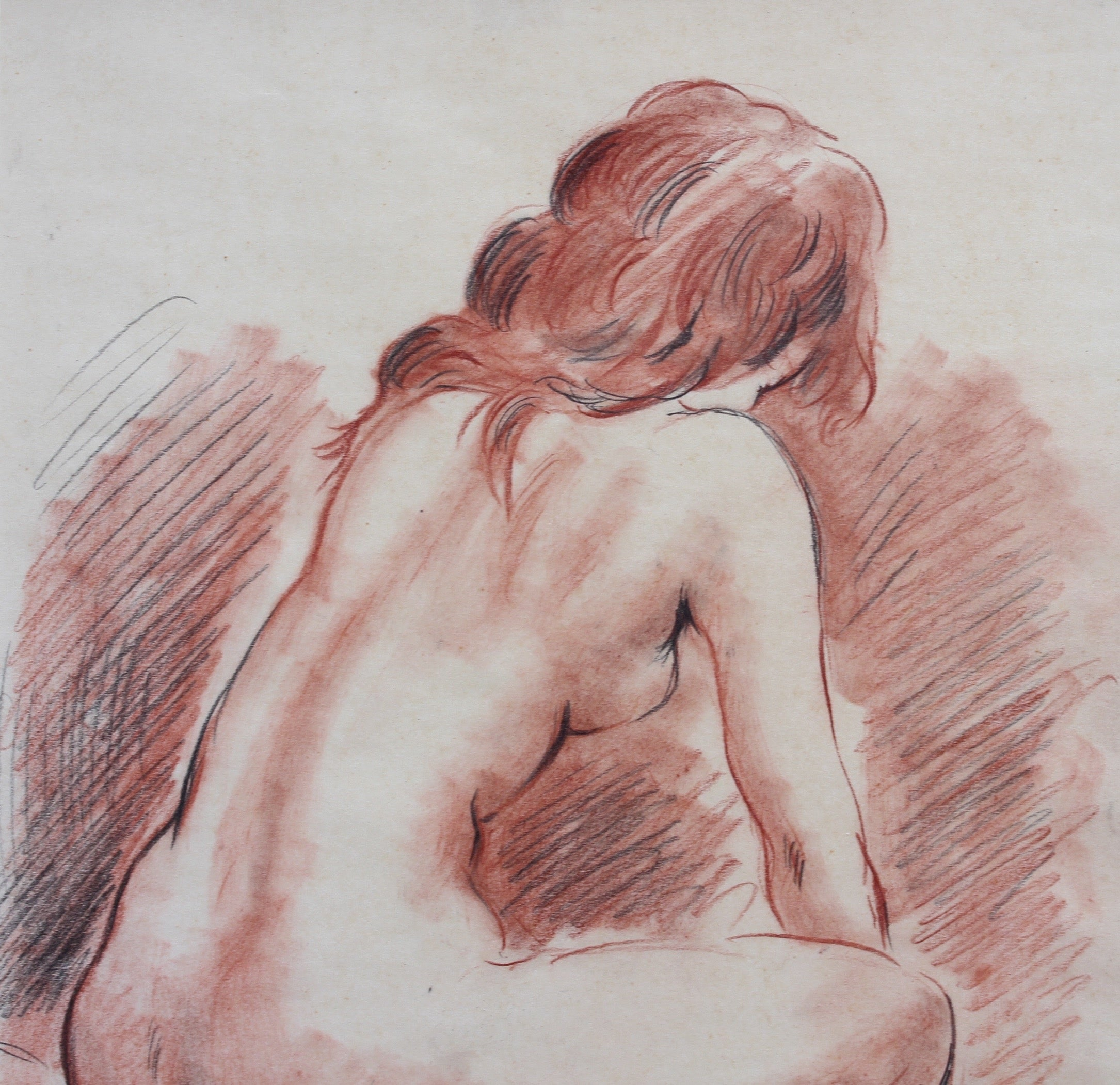 'Reclining Nude Young Women' by Fred Pailhès (circa 1950s)