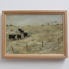 'Grazing Bulls in the Carmargue' by M. Arvanitakis (circa 1950s)