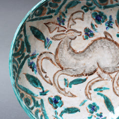French Persian-Inspired Ceramic Bowl by Édouard Cazaux (circa 1930s)