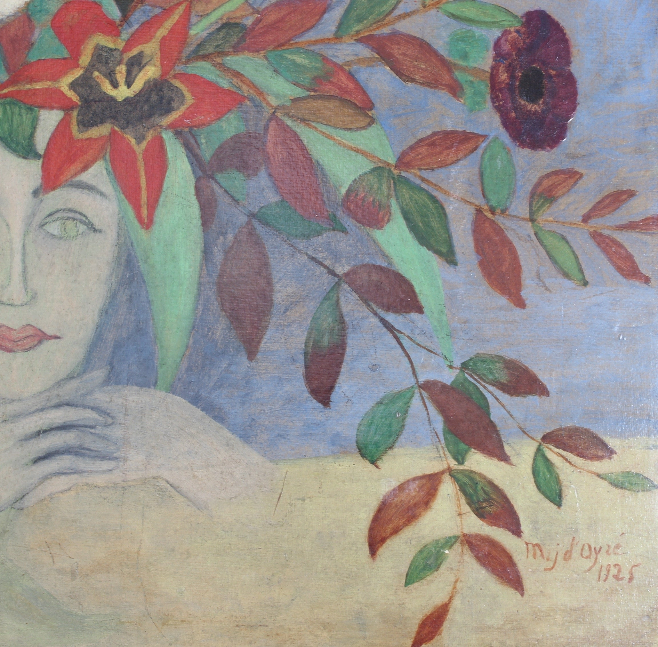 'Flowered Lady' by M J d'Ayzé (1925)