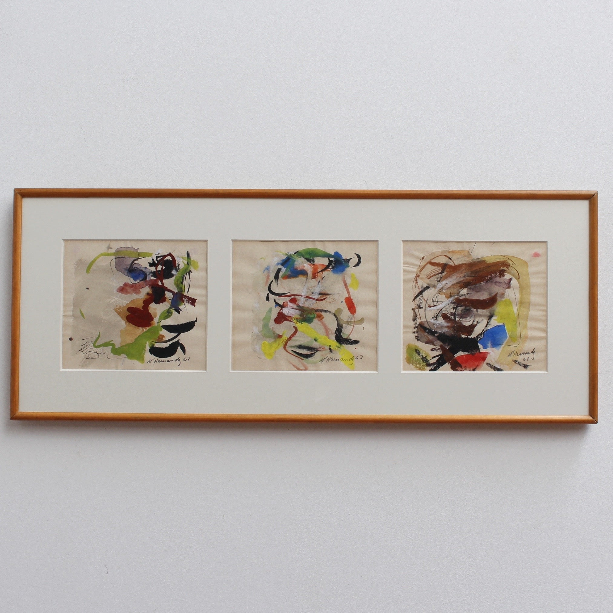 Abstract Triptych by M. Hernandez (1960s) – Bureau of Interior ...