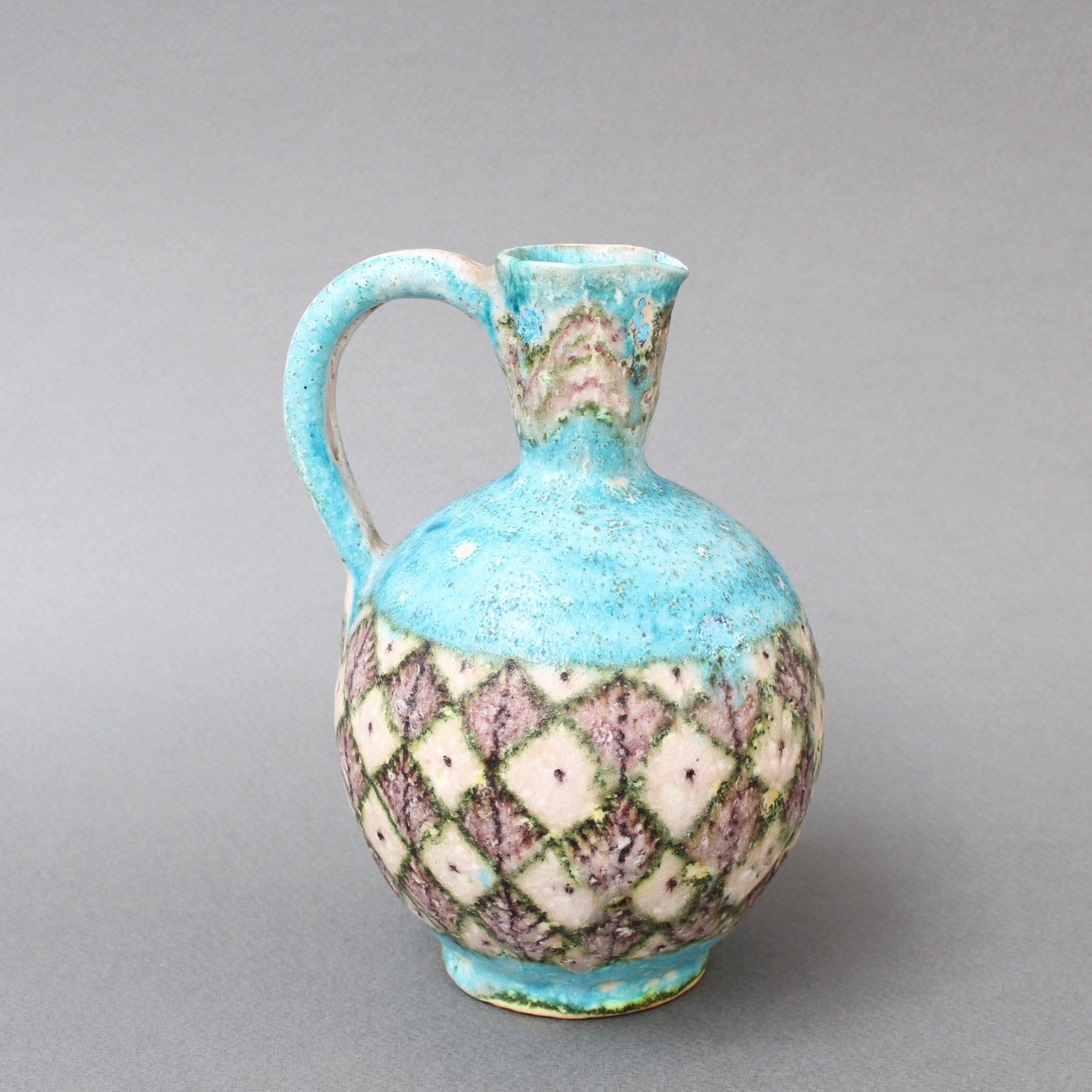 Mid-Century Italian Decorative Ceramic Jug by Guido Gambone (circa 1950s)
