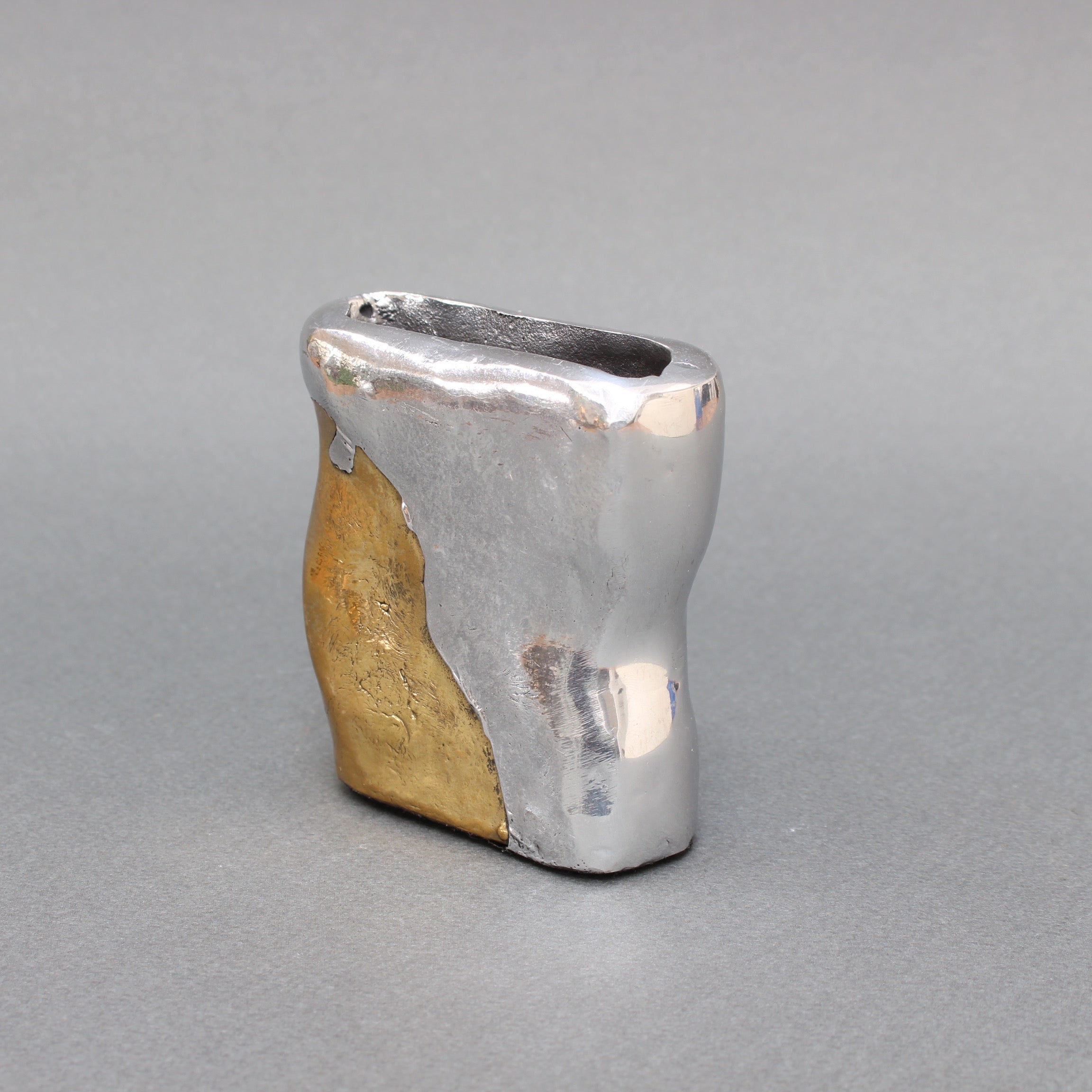 Brutalist Aluminium and Brass Cardholder Attributed to David Marshall (circa 1970s)