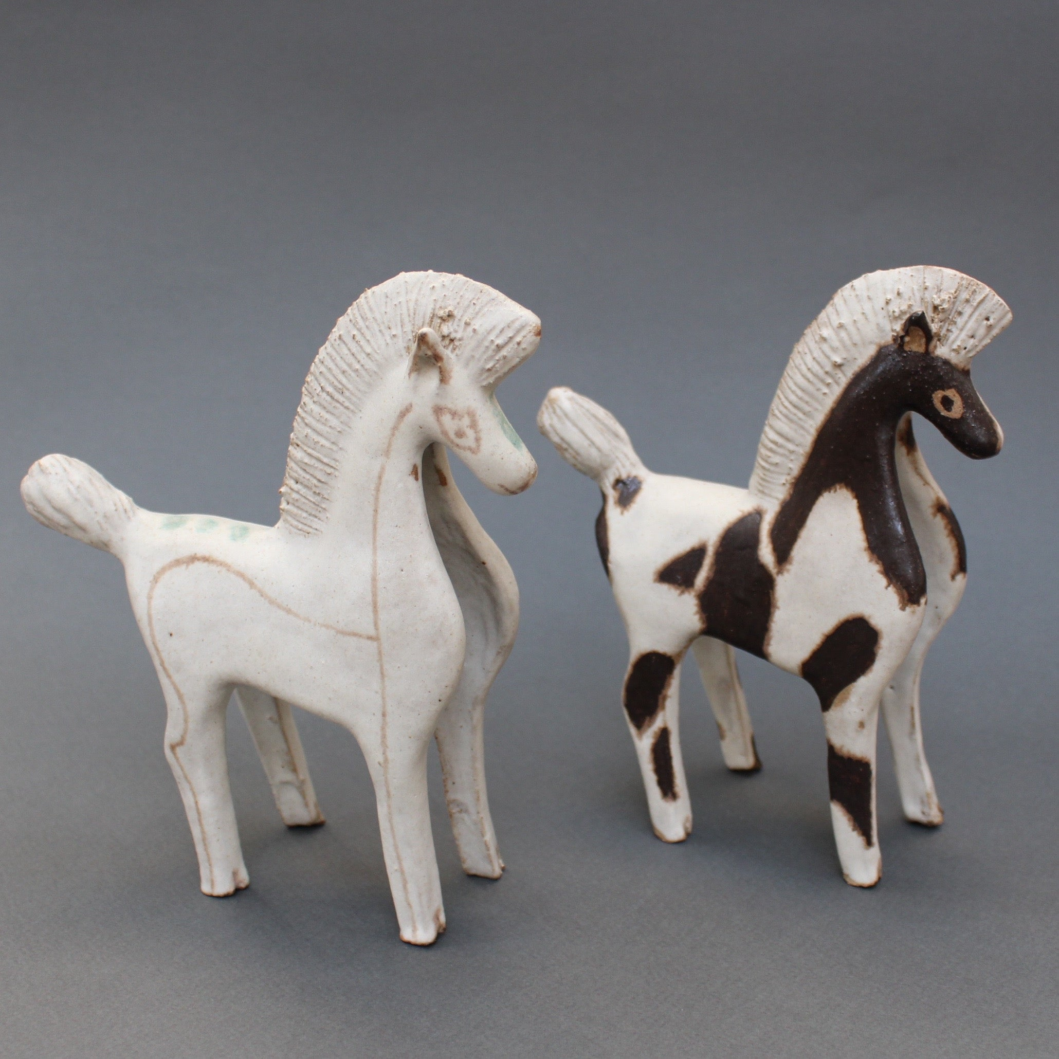 Ceramic White Horse by Bruno Gambone (circa 1970s)