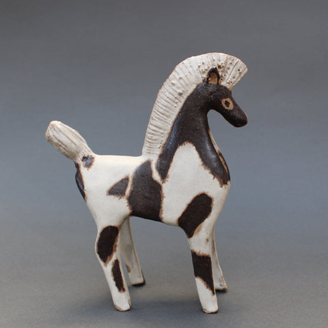 Ceramic Two-Toned Horse by Bruno Gambone (circa 1970s)