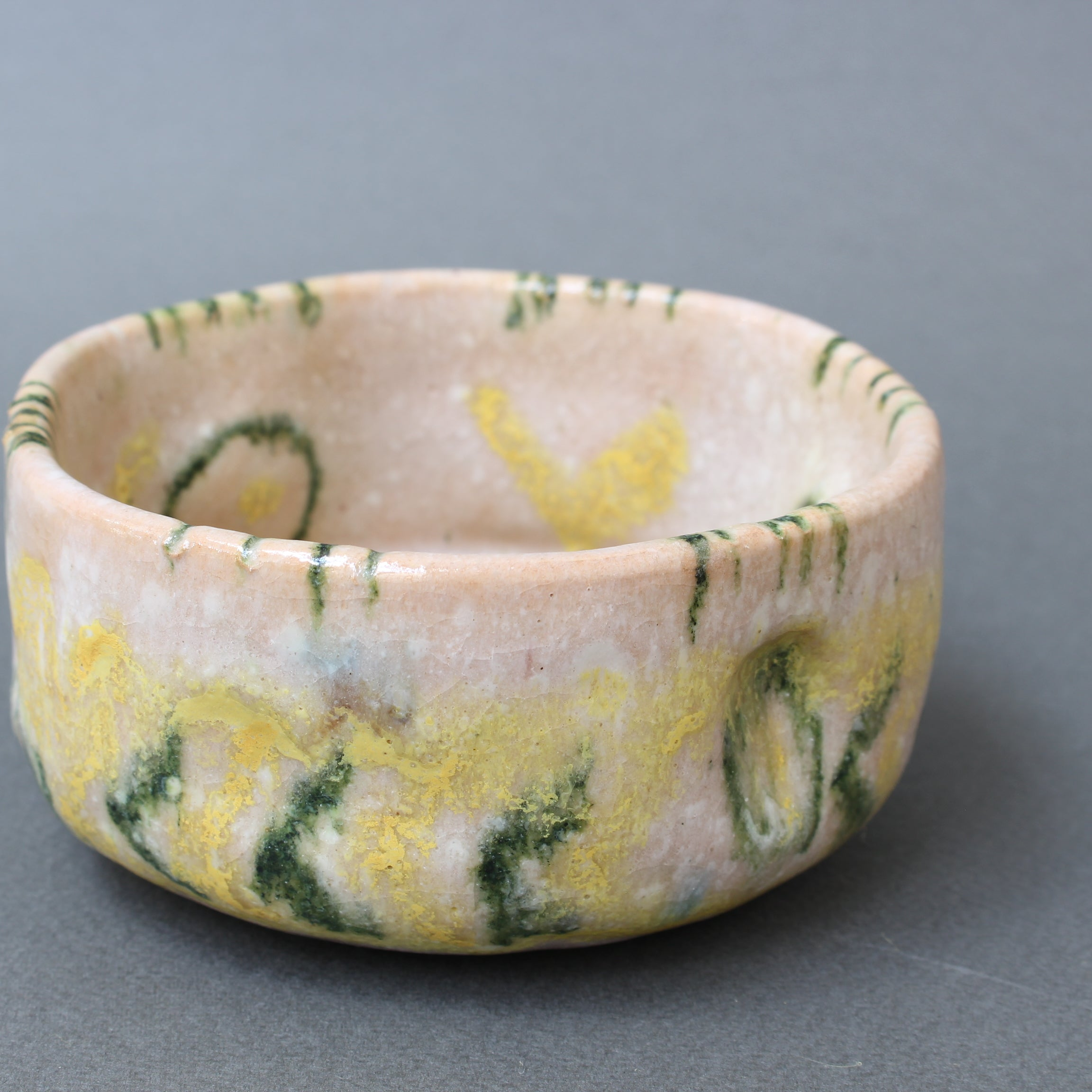Italian Mid-Century Decorative Ceramic Bowl by Guido Gambone (circa 1950s)