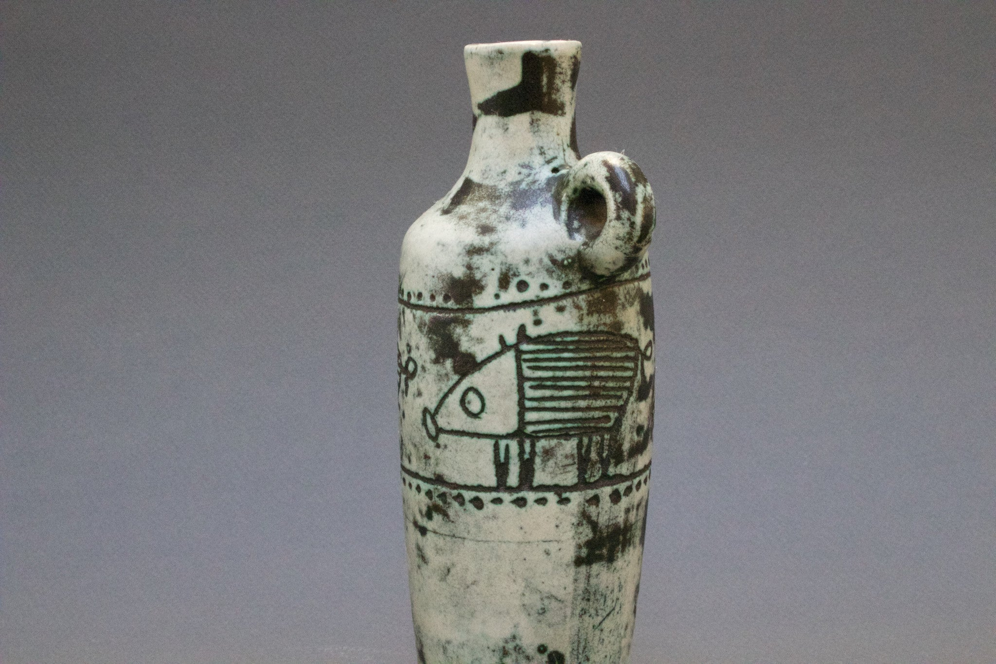 Ceramic Vase by Jacques Blin with Wild Boar Motifs (c. 1950s)