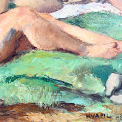 'The Bathers' by Charles Kvapil (1927)