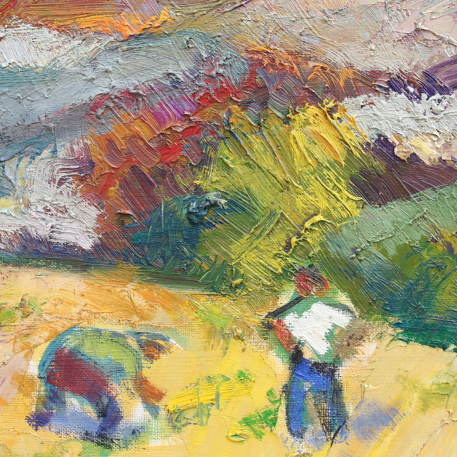 'Farmers Working the Fields' by Louis Toncini (1989)