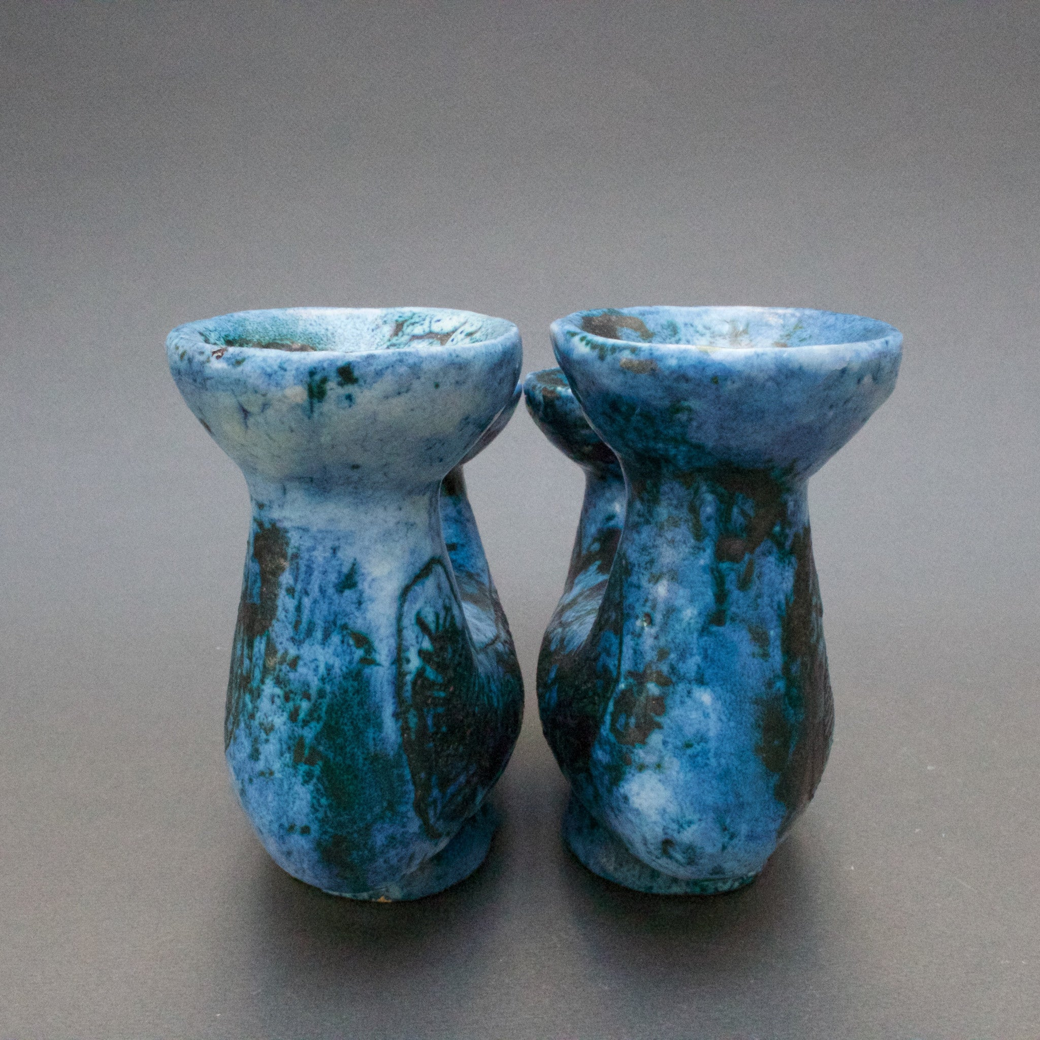 Pair of Candle Holders by Jacques Blin (c. 1950s)