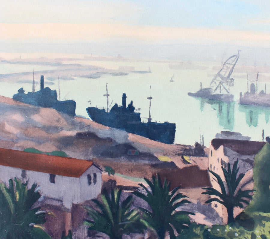 'The Port of Algiers' Lithograph by Albert Marquet (circa 1940s)