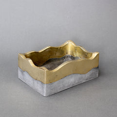 Brutalist Brass and Aluminium Box by David Marshall (circa 1970s)