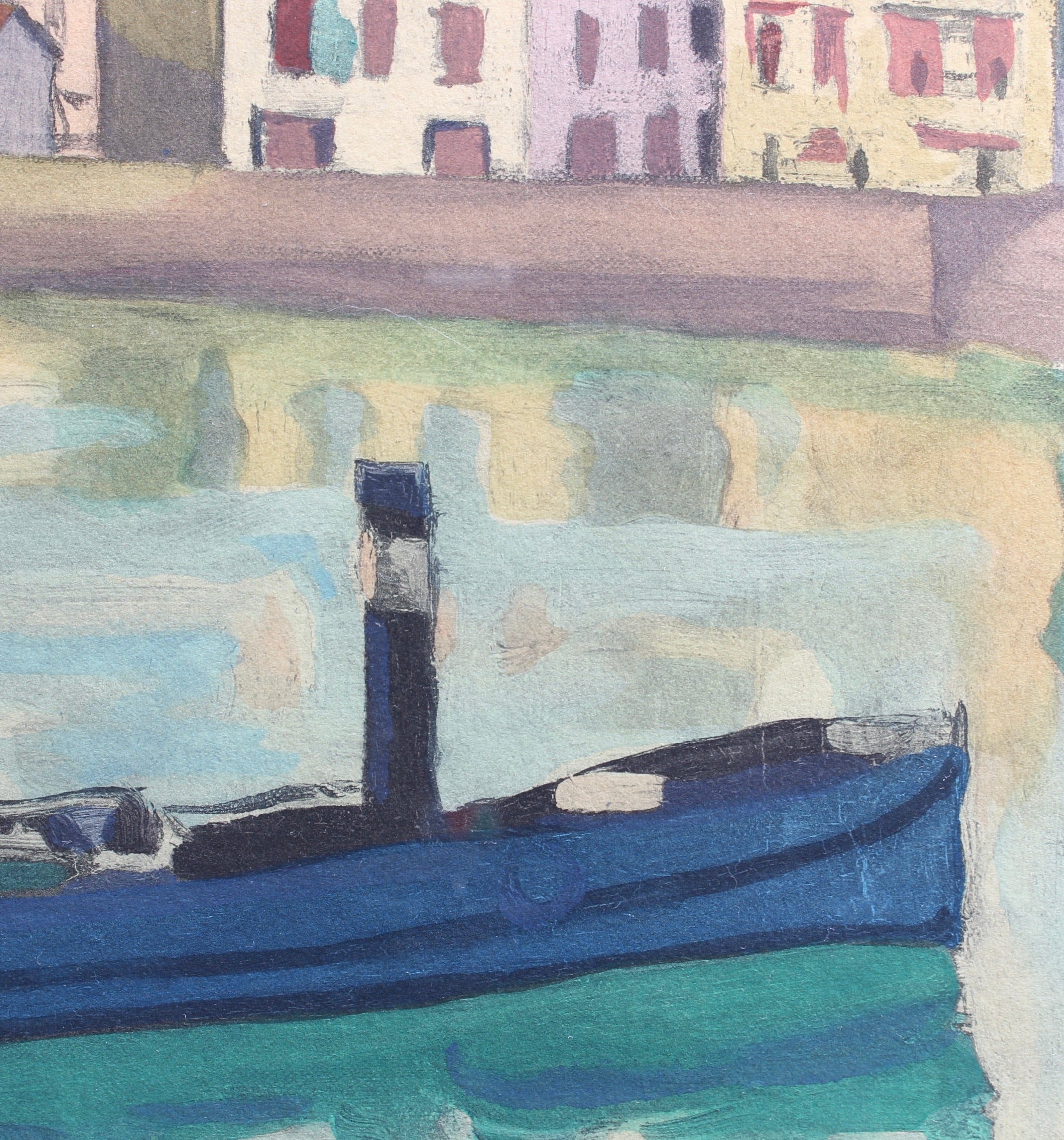 'The Port of Saint-Jean-de-Luz' Original Lithograph by Albert Marquet (circa 1930s)