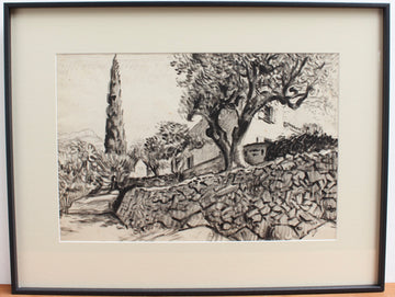'The Olive Tree Behind the Stone Wall' by Pierre Dionisi (circa 1930s)