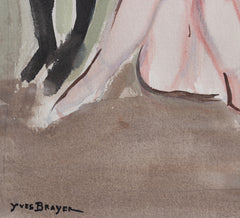 'Ballet Dancers at the Opera de Paris' by Yves Brayer (circa 1940s)