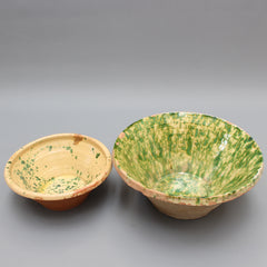 Antique Southern Italian Earthenware Passata Bowls (Early 20th Century) - Small