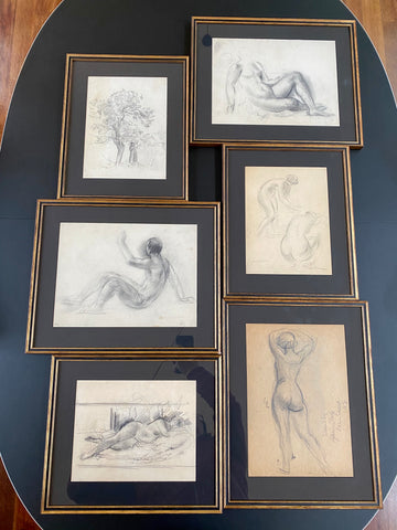 Set of Six Drawings (Set 1) by Guillaume Dulac (circa 1920s)