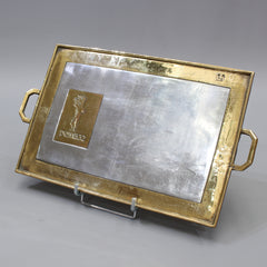 Aluminium and Brass Serving Tray for Domecq Sherry by David Marshall (circa 1970s)