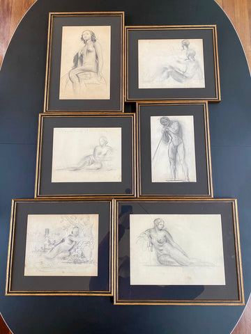 Set of Six Drawings (Set II) by Guillaume Dulac (circa 1920s)