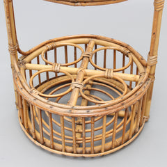 Vintage French Rattan Drinks Rack (circa 1960s)