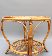 Italian Rattan Coffee / End Table (circa 1960s)